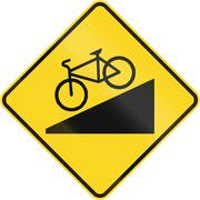 Steep Descent For Cyclists in Canada Stock Illustration