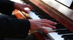 Musician Plays Piano Stock Footage