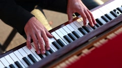 Hands Musician Playing the Piano Stock Footage