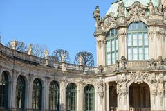 Nook near gallery toward Wall Pavilion of Zwinger, Dresden, Germany. Stock Photos