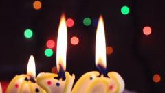 Candle light, romantic holiday background - stock footage