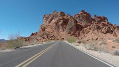Valley Of Fire Nevada Time Lapse Editorial Driving Shot Stock Footage