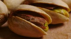 Pistachio nuts, ECU - stock footage