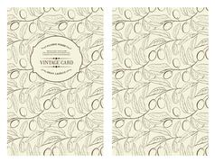 Book cover with olive - stock illustration
