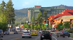 An establishing shot of South Lake Tahoe, California. Stock Footage