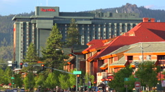 An establishing shot of South Lake Tahoe, California. Stock Footage