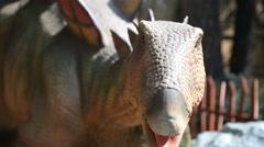 Realistic dinosaur, Dino-park Stock Footage