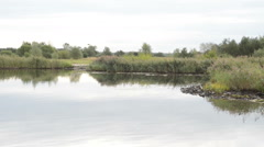 Side river of Havel River flowing into the main stream Stock Footage
