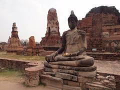 Buddha statue in ayutthaya - stock photo
