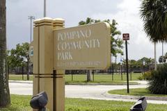 Pompano Community Park Sign - stock photo