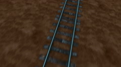 The train rushes. Realistic 3d animation - stock footage