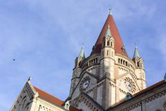 Vienna, Austria church detail - stock photo