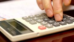 Tax time calculator Stock Footage