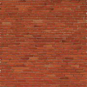 Brick wall, red relief texture with shadow - stock illustration