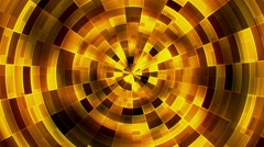 Abstract rotating circles in yellow - stock footage