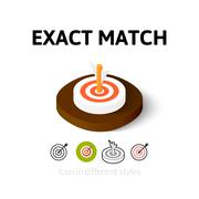 Stock Illustration of Exact match icon in different style