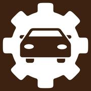 Automobile Service Flat Icon - stock illustration