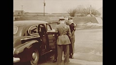 Vintage 16mm film, 1953, George Vanier and troops Stock Footage