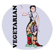 Stock Illustration of Vegetarian Vedic Girl