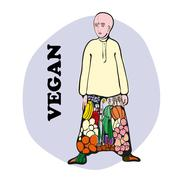 Stock Illustration of Vegetarian Vedic Boy