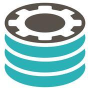 Casino Chips Flat Icon - stock illustration