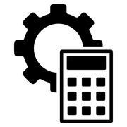Engineering Calculations Flat Icon - stock illustration