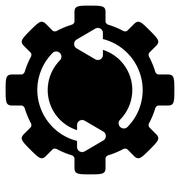 Stock Illustration of Refresh Engine Flat Icon