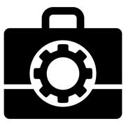 Toolbox Flat Icon Stock Illustration