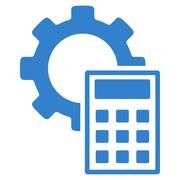 Stock Illustration of Engineering Calculations Flat Icon