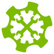 Service Tools Flat Icon - stock illustration