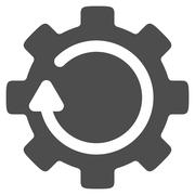 Stock Illustration of Gear Rotation Flat Icon