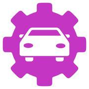 Stock Illustration of Automobile Service Flat Icon