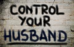 Control Your Husband Concept Stock Illustration