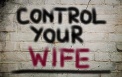 Control Your Wife Concept - stock illustration