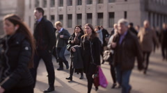 London Commuters Stock Footage