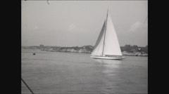Sailboat on Narragansett Bay Stock Footage