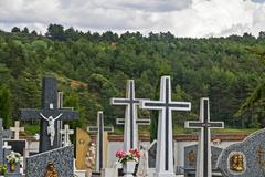 Stock Photo of Cemetery Cruces