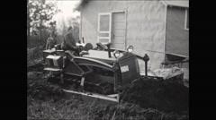 CCC bulldoze 1936 Stock Footage