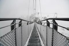 Stock Photo of Gigantic suspension bridge attraction (140m) on the Stubnerkogel