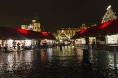 PRAGUE, 1 DECEMBER 2014 - Christmas light. Old Town Square at Christmas time, Stock Photos