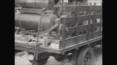 CCC jackhammers pan 1936 Stock Footage