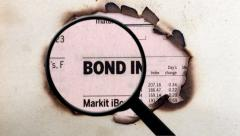 Magnifying glass on bond indices Stock Footage