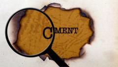 Magnifying glass on comment paper hole - stock footage