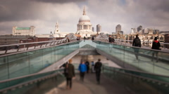 St.Paul's Cathedral London - stock footage