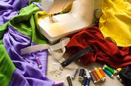 Stock Photo of Sewing table
