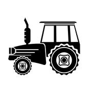 Tractor Silhouette Icon Stock Illustration