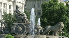 Cibeles statue in Madrid Spain Stock Footage