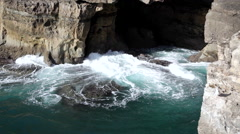Hell's Mouth view Portugal Stock Footage