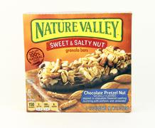 Box of General Mills Nature Valley Sweet and Salty Nut Bars - stock photo
