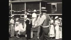 Lining up for Horribles July 4th parade 1930 Stock Footage